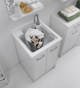 Итальянские постирочные раковины Мебель и оборудование для постирочной комнаты. Мебель для постирочной DM Colavene Глубокая раковина для стирки Bianca с тумбой