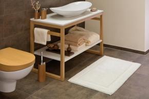 Коврики для ванной комнаты.  Хлопковый коврик для ванной с декором AMA биохлопок Bio-Baumwolle