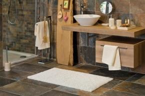 Коврики для ванной комнаты.  Хлопковый коврик для ванной комнаты COTTANOVA двухсторонний