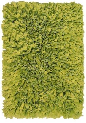 . MOOD коврик для ванной зелёный пушистый