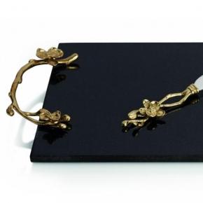 Разделочные доски. Доска с ножом «Золотая орхидея»