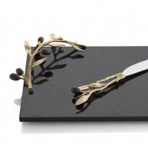 Разделочные доски. Доска для сыра с ножом 32 см «Золотая оливковая ветвь»