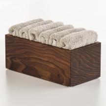 Мебель и Аксессуары для ванной из натурального дерева, Раттана и Бамбука. Настольные аксессуары для ванной тон Венге Wenge лоток глубокий деревянный для мини-полотенец