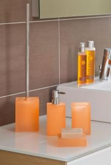 Аксессуары для ванной настольные. Cube Аксессуары для ванной настольные квадратные оранжевые