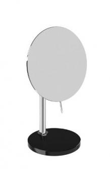 Зеркала косметические с подсветкой увеличением настенные настольные Зеркала с присосками. Настольное Зеркало с увеличением Heritage чёрное с хрустальным основанием