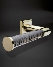 . Аксессуары для ванной настенные Heritage бумагодержатель хрустальный с декором золотой
