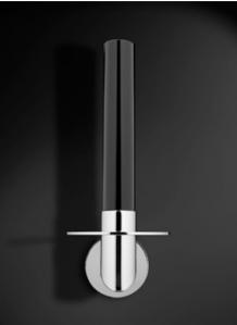 . Аксессуары для ванной настенные Heritage бумагодержатель для запасного рулона хрустальный чёрный с круглым основанием