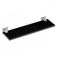 . Аксессуары для ванной настенные Heritage полочка 40 см чёрная хрустальная
