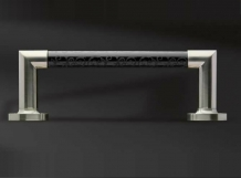 . Аксессуары для ванной настенные Heritage полотенцедержатель хрустальный чёрный с декором