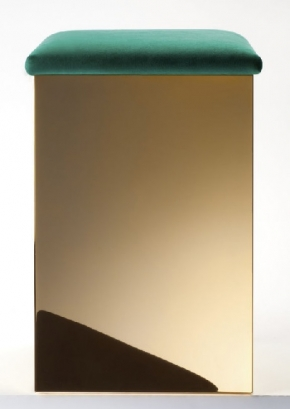 . Decor Walther Корзина для белья с мягким сиденьем Puff золотая пуф
