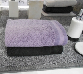 Полотенца хлопковые. Полотенца хлопковые EXCELLENCE Nicol Фиолетовые Чёрные