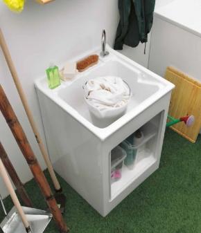 Итальянские постирочные раковины Мебель и оборудование для постирочной комнаты. Мебель для постирочной тумба с раковиной акрил 60 см