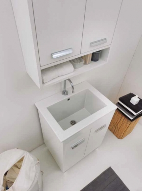Итальянские постирочные раковины Мебель и оборудование для постирочной комнаты. Мебель для постирочной Colavene раковина керамическая Prisma с тумбой Bianco