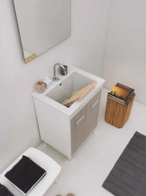 Итальянские постирочные раковины Мебель и оборудование для постирочной комнаты. Мебель для постирочной Colavene раковина керамическая Prisma с тумбой Rovere