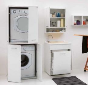 Итальянские постирочные раковины Мебель и оборудование для постирочной комнаты. Мебель для постирочной колонка шкаф для встраивания стиральной и сушильной машины