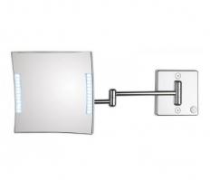 . Зеркало настенное, с проводом, с 3-х кратным увеличением QUADROLO LED 61/2KK3