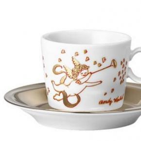 Новый Год. Чашка для эспрессо с блюдцем