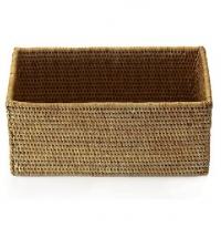 Мебель и Аксессуары для ванной из натурального дерева, Раттана и Бамбука. Лоток плетёный Rattan Ротанг тёмный