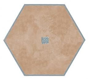 Коврики для ванной комнаты.  Коврик для ванной комнаты PIAZZA Nicol Бежевый шестиугольный люрекс золотой, серебряный