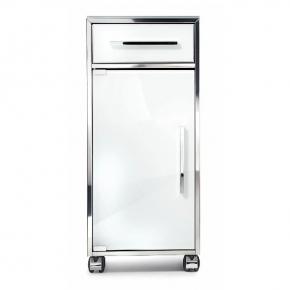 Этажерки для ванной. Стеклянный шкаф на роликах этажерка для ванной