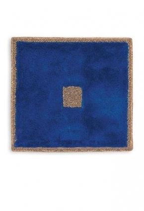 Коврики для ванной комнаты.  Коврик для ванной комнаты PIAZZA Nicol Синий квадратный, люрекс золотой, серебряный