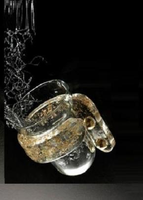 . Long аксессуары для ванной стеклянные настенные стакан золотой декор