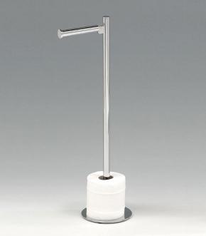 Стойки напольные с ёршиком бумагодержателем, полотенцедержателем и высокие. Стойка напольная для запасных рулонов туалетной бумаги Round