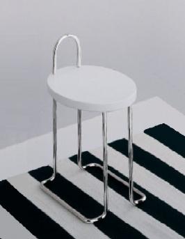 . Табурет для ванной стул со спинкой круглым сиденьем Open Kristallux E330