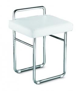 . Табурет для ванной стул со спинкой и мягким кожаным сиденьем Open Kristallux E340