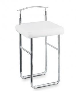 . Табурет для ванной стул со спинкой и мягким кожаным сиденьем Open Kristallux H340 высокий