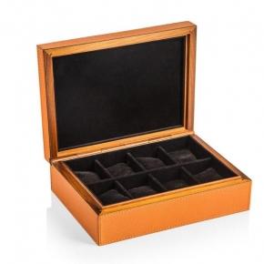 Боксы для часов и украшений Шкатулки Deluxe. Шкатулка для часов из натуральной кожи GioBagnara