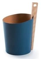 Вёдра с педалью Дровницы Вёдра. Кожаное ведро с деревянной ручкой Синее