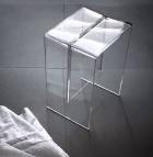 . Прозрачный табурет для ванной душа и душевой кабины Laufen Kartell Бесцветный Max-Beam