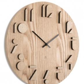 Часы. Часы настенные Shadow натуральное дерево