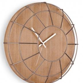 Часы. Настенные часы Cage никель