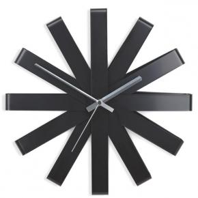 Часы. Часы настенные Ribbon чёрныe