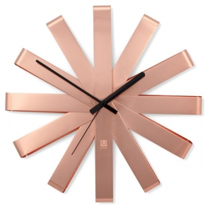 Часы. Часы настенные RIBBON медь