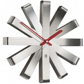 Часы. Часы настенные Ribbon сталь