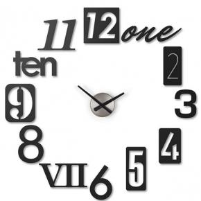 Часы. Часы настенные Numbra черные