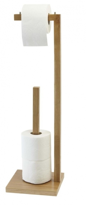 . Стойка напольная с бумагодержателем для запасных рулонов деревянная Дуб Villeroy&Boch