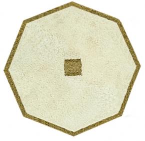 Коврики для ванной комнаты.  Коврик для ванной комнаты PIAZZA Nicol восьмиугольный люрекс золотой, серебряный