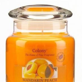 Новый Год. Ароматическая свеча Мандарин и персик