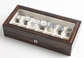 Аксессуары и Мебель для дома. Wood Collection бокс для часов и украшений деревянный Эбен Макассар