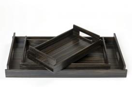 Аксессуары и Мебель для дома. Wood Collection лоток поднос деревянный Эбеновое дерево