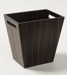 Мебель и Аксессуары для ванной из натурального дерева, Раттана и Бамбука. Wood Collection ведро деревянное Эбеновое дерево