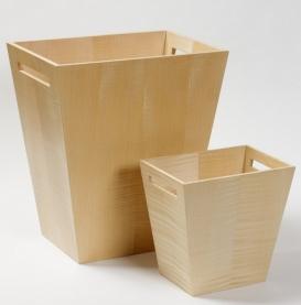 Аксессуары для кабинета Deluxe. Wood Collection ведро деревянное Сикамор
