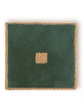 Коврики для ванной комнаты. Коврик для ванной комнаты PIAZZA Nicol зелёный квадратный, люрекс золотой, серебряный