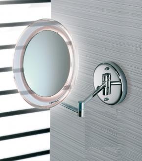 Зеркала косметические с подсветкой увеличением настенные настольные Зеркала с присосками. Marie Nicol косметическое зеркало с подсветкой LED и увеличением 10-ти кратным настенное с прямым подключением без провода