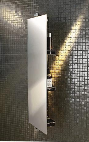 Зеркала для ванной. Зеркало для ванной поворотное с полками
