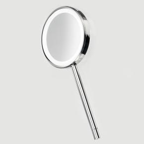 Зеркала косметические с подсветкой увеличением настенные настольные Зеркала с присосками. Ручное зеркало косметическое с подсветкой LED от батареек и увеличением 1х1 и 1х5 двухстороннее